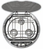 SMEV 7223 3 Burner round Hob with Ignition